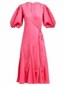 Rhode - Fiona Cotton Wrap Dress - Womens - Pink