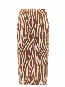 Lisa Marie Fernandez - Poet Linen Blend Mini Dress - Womens - Yellow