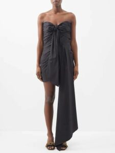 Zimmermann - Suraya Ruffle-trim Plissé-gauze Top - Womens - Burgundy