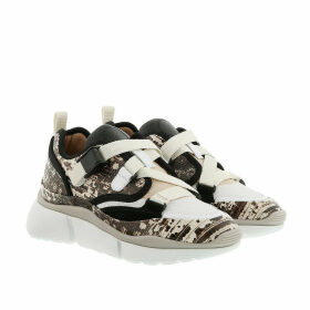 Chloé Sneakers - Sonnie Low Top Python Embossed Sneaker Eternal Grey - beige - Sneakers for ladies