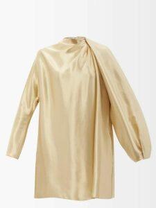 Allude - Round-neck Cashmere Cardigan - Womens - Khaki