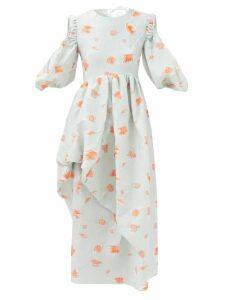 Emilia Wickstead - Giucia Sweetheart Neckline Wool Crepe Top - Womens - Dark Pink