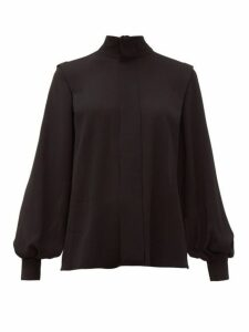 Emilia Wickstead - Brunhilda Tie-neck Crepe Blouse - Womens - Black