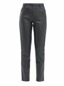Officine Générale - Celia Leather Trousers - Womens - Black Navy