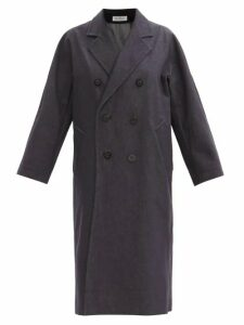 Marni - Checked Cotton Poplin Shorts - Womens - Blue Multi