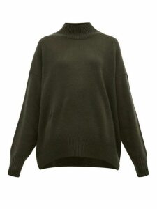 Allude - High Neck Cashmere Sweater - Womens - Khaki
