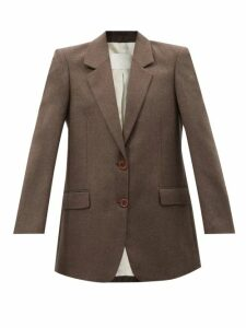 Allude - Rib Knitted Cashmere Cardigan - Womens - Beige