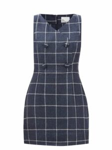 Allude - Roll-neck Ribbed-knit Cashmere Sweater - Womens - Dark Grey