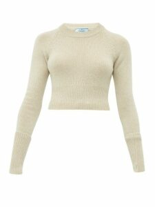 Prada - Cropped Cashmere Sweater - Womens - Beige