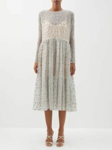 Jil Sander - Slit Roll-neck Cashmere-blend Sweater - Womens - Beige Multi