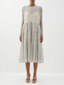 Jil Sander - Slit Roll Neck Cashmere Blend Sweater - Womens - Beige Multi