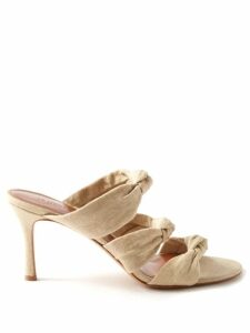 Loewe - Logo Embroidered Fair Isle Sweater - Womens - Blue Multi