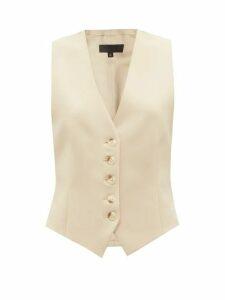 Nili Lotan - Vianna Python-print Leather Trousers - Womens - Brown