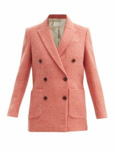 Valentino - Tie-neck Ruffle-trimmed Silk Blouse - Womens - Red