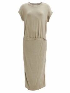 Mm6 Maison Margiela - Logo Hand-print Cotton T-shirt - Womens - White