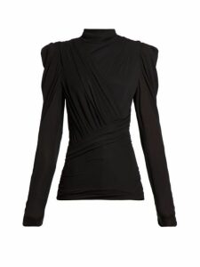 Isabel Marant - Jalford Ruched Jersey Top - Womens - Black