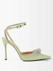 Gabriela Hearst - Henri Polka-dot Silk-satin Blouse - Womens - Navy White