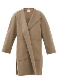 Chloé - Pintuck Silk Crepe De Chine Blouse - Womens - Navy