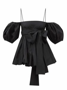 Gucci - Gg Logo-jacquard Wool-blend Knitted Top - Womens - Blue Multi