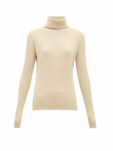 Allude - Roll-neck Cashmere Sweater - Womens - Beige