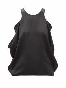 Bella Freud - Nova Balloon-sleeve Crepe Dress - Womens - Orange