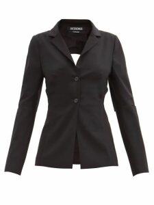 Bella Freud - Nova Balloon-sleeve Crepe Dress - Womens - Green
