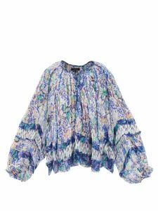 Erdem - Kinsey Floral-jacquard Midi Dress - Womens - Blue Multi
