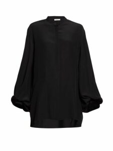The Row - Vara Balloon-sleeve Crepe Blouse - Womens - Black