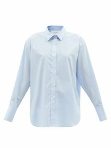 Borgo De Nor - Chloe Rose-print Tie-front Cotton Blouse - Womens - Pink Print