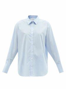 Borgo De Nor - Chloe Rose-print Tie-front Cotton Blouse - Womens - Pink Print