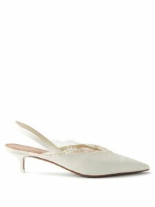 Miu Miu - Bow Front Wool Blend Sweater - Womens - Red