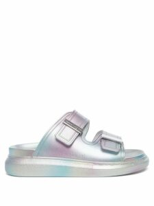 Prada - Rose And Heart-print Cotton Shirt - Womens - Light Blue