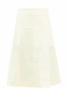 Prada - Oversized Patch-pocketed Cotton-poplin Shirt - Womens - Blue