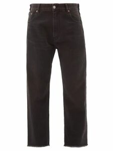 Prada - Cropped Cashmere Sweater - Womens - Dark Grey