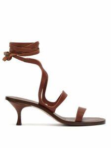 Álvaro - Alea Wrap Around Leather Sandals - Womens - Dark Brown