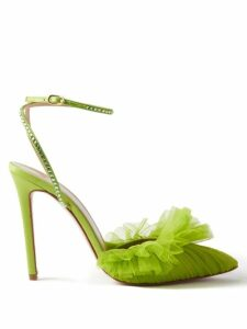 Loewe - Tread Sole Leather Ankle Boots - Womens - Tan