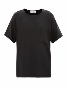 Chloé - Python Effect Leather Ankle Boots - Womens - Black Yellow