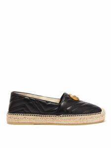 Gucci - Pilar Gg Quilted Leather Espadrilles - Womens - Black