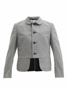 Miu Miu - Crackled Leather Chelsea Boots - Womens - Dark Brown