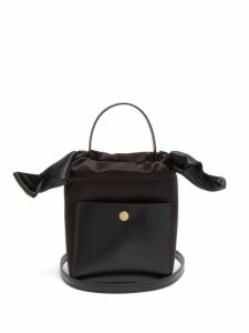 Sophie Hulme - Knot Nano Leather And Satin Bag - Womens - Black