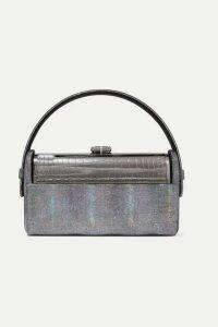 Bienen-Davis - Régine Iridescent Leather And Silver-dipped Tote - Gunmetal
