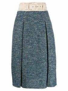 Elisabetta Franchi belted waist skirt - Blue