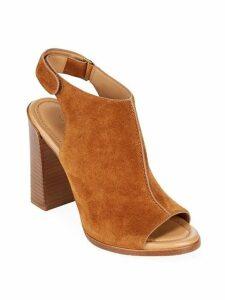 Maeve Suede Block Heel Slingback Sandals