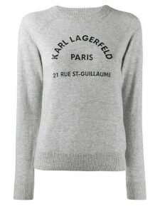 Karl Lagerfeld Address Logo jumper - Grey