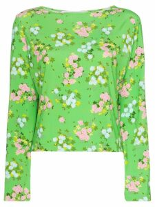Bernadette Monica Small Roses print top - Green