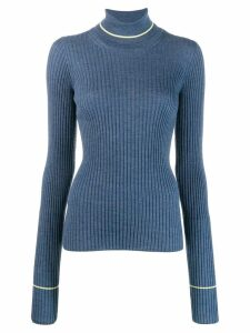 Maison Margiela ribbed knit top - Blue