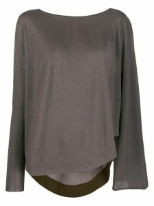 Fabiana Filippi loose fit sweater - Brown