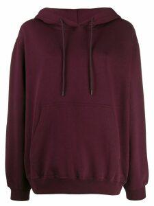 MSGM kangaroo pocket hoodie - Red