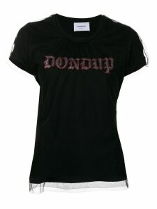 Dondup logo mesh top T-shirt - Black