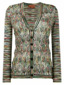 Missoni multi-pattern cardigan - Green